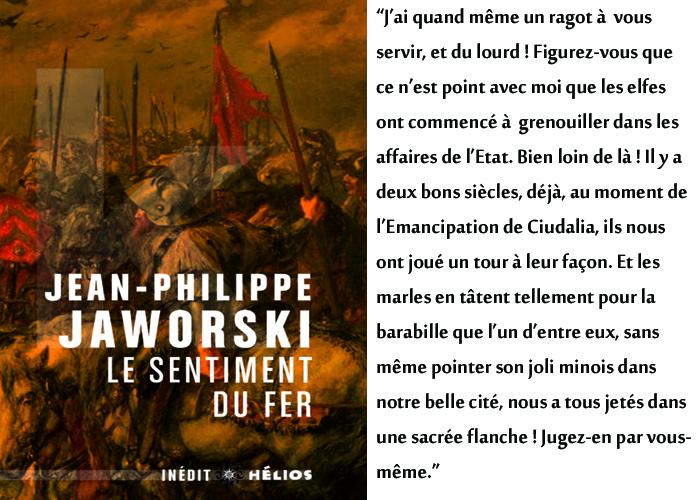 Couverture Le sentiment du fer Jean-Philippe Jaworski