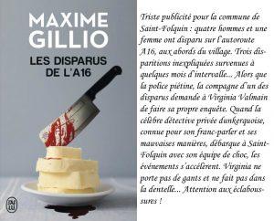 Couverture Les Disparus de l'A16 Maxime Gillio J'ai Lu