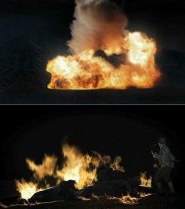 Clip-art de char en flammes