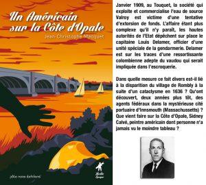 Couverture Un Américain sur la Côte d'Opale Jean-Christophe Macquet Pôle Nord collection Belle Époque