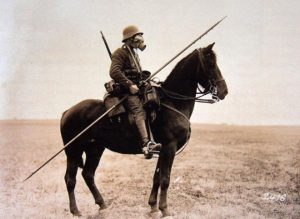 Cavalier allemand en tant qu'uhlan