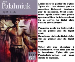 Couverture Fight Club Chuck Palahniuk Folio SF