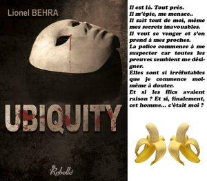 Couverture Ubiquity Lionel Behra Rebelle éditions