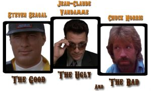Nanar kings Steven Seagal Jean-Claude Van Damme et Chuck Norris