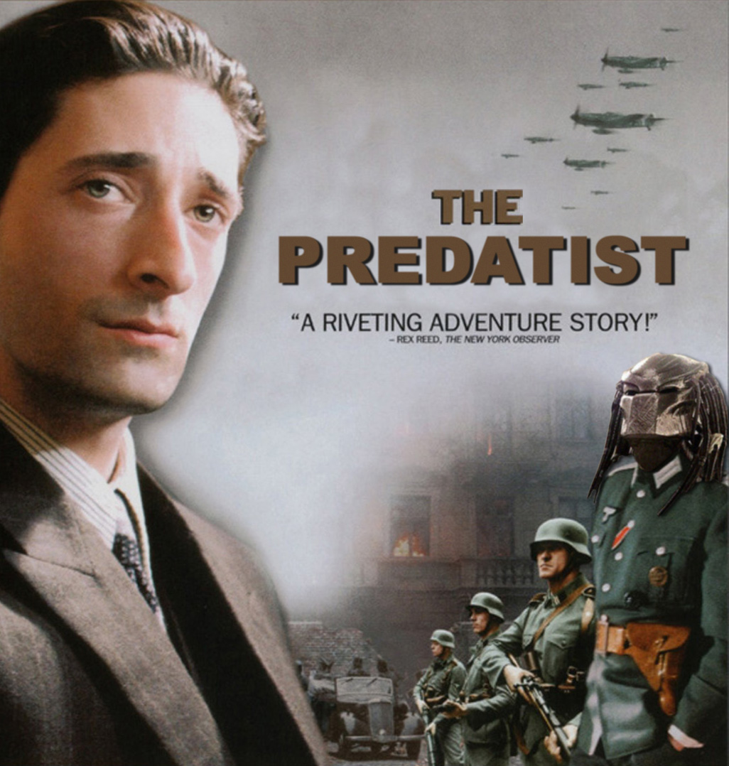 Détournement d'affiche The Pianist Predatist Predator par Un K à part