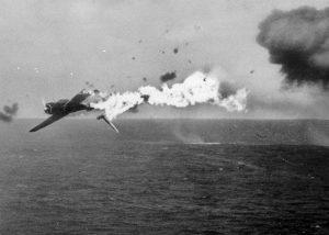 Crash d'un avion japonais sur le front du Pacifique en 1944