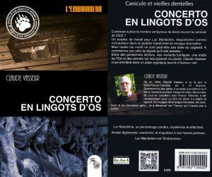 Couverture Concerto en lingots d'os Claude Vasseur L'Atelier Mosésu collection L'embaumeur