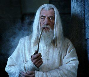 Gandalf et une bonne pipe