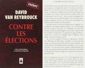 Couverture Contre les élections David Van Reybrouck