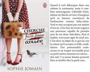 Couverture Cherche jeune femme avisée Sophie Jomain J'ai Lu