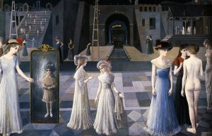 Le Tunnel par Paul Delvaux