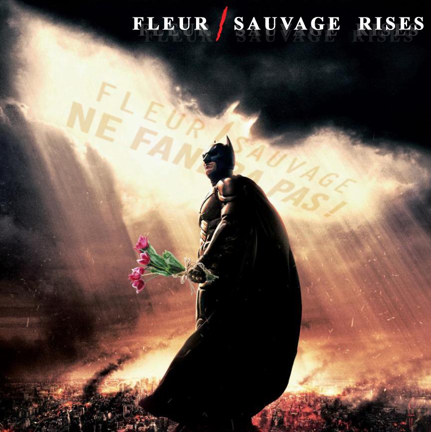 Détournement Batman Fleur Sauvage par Un K à part