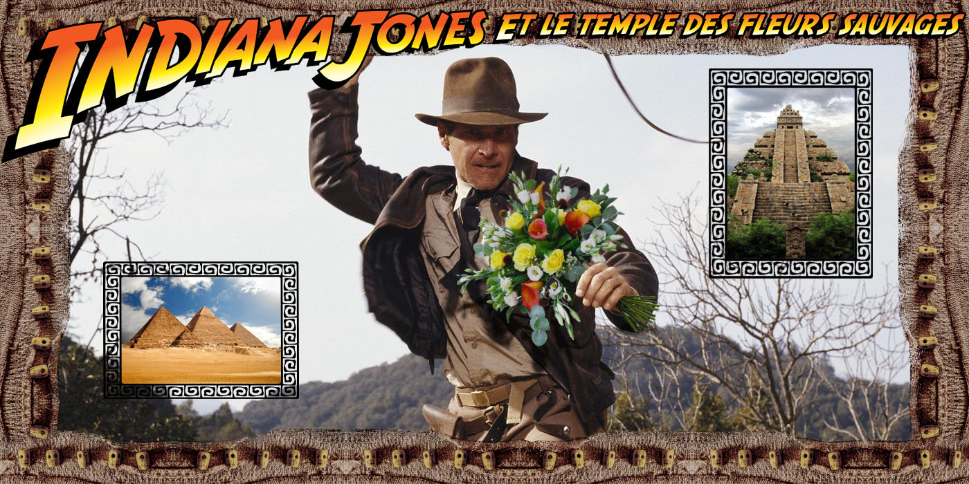 Détournement Indiana Jones Temple Fleur Sauvage par Un K à part