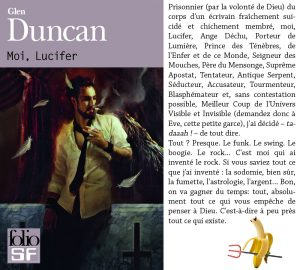 Couverture Moi Lucifer Glen Duncan Folio SF