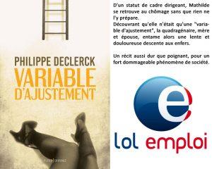 Couverture Variable d'ajustement Philippe Declerck Fleur sauvage