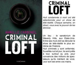 Couverture Criminal Loft Armelle Carbonel