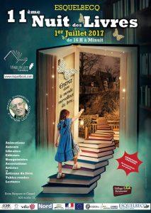 Affiche salon Nuit des Livres Esquelbecq 2017