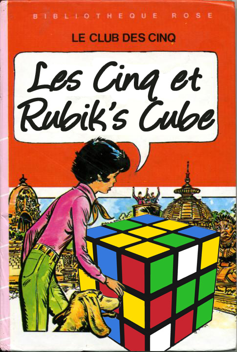 Détournement Le club des Cinq et le Rubik's Cube par Un K à part
