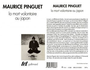 Couverture La mort volontaire au Japon Maurice Pinguet Gallimard collection Tel