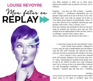 Couverture Mon futur en replay Louise Revoyre Scrineo