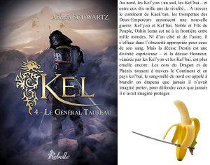 Couverture Kel Le Général Taureau Andrea Schwartz Rebelle éditions
