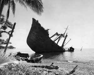 Navire échoué à Guadalcanal