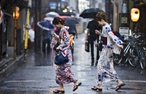 Parapluie kimono Japon