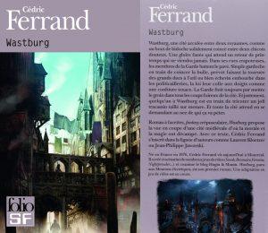 Couverture Wastburg Cédric Ferrand Folio SF