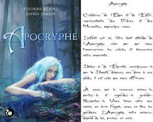 Couverture Apocryphe Fleurine Rétoré Sophie Jomain