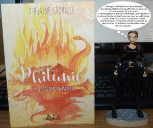 Couverture Phitanie Les quatre royaumes Tiphaine Croville édition Rebelle