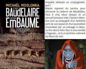 Couverture C'est Baudelaire qu'on embaume Michaël Moslonka