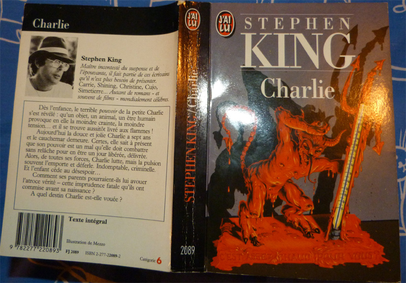 Charlie Stephen King couverture