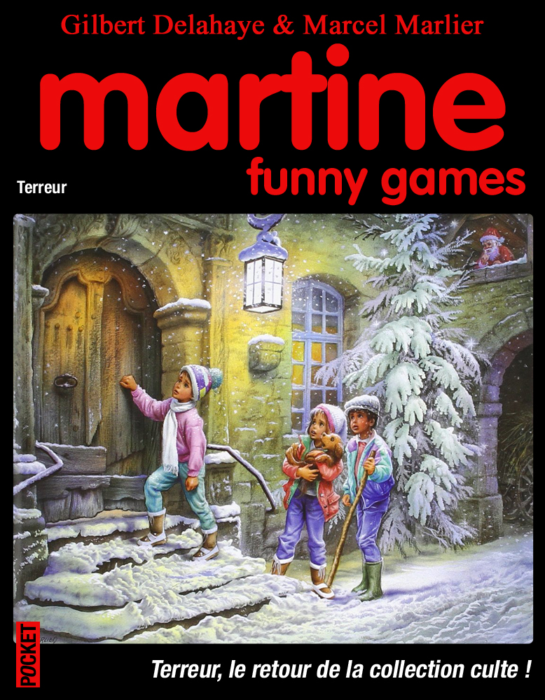 Détournement de couverture Martine Funny games par Un K à part