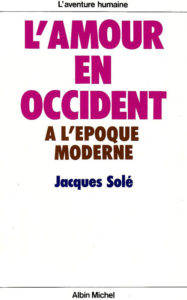 Couverture L'amour en Occident à l'époque moderne Jacques Solé