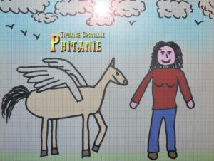 Dessin Phitanie Pégase Héloïne par Un K à part