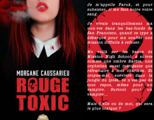 Couverture Rouge Toxic Morgane Caussarieu ActuSF label Naos