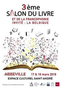 Affiche salon du livre Abbeville 2018