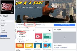 Voir en premier page Facebook Un K à part