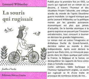 Couverture La souris qui rugissait Leonard Wibberley éditions Héros-Limite