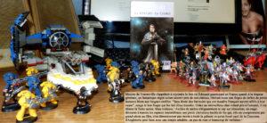 Couverture Les croisés du cosmos Poul Anderson Folio SF Space Marines Warhammer