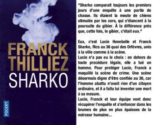 Couverture Sharko Franck Thilliez