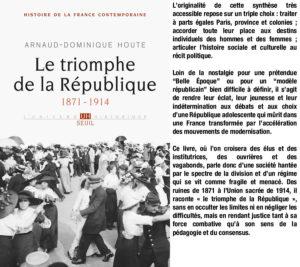 Couverture Le triomphe de la République Arnaud Houte éditions Seuil