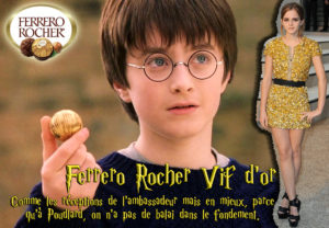 Détournement Harry Potter Vif d'or Ferrero rocher par Un K à part