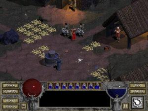 Deckard Cain et les tas d'or dans Diablo
