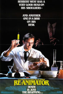 Herbert West affiche du film Re-Animator