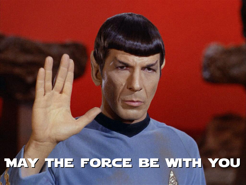 Détournement Spock May the Force par Un K à part