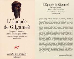 Couverture épopée de Gilgamesh Jean Bottéro