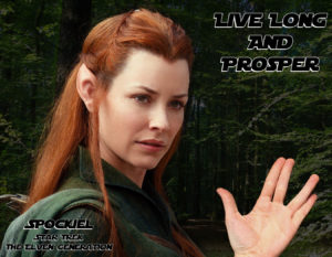 Détournement Tauriel Spock Star Trek Live long and prosper  par un K à part