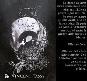 Couverture Comment le dire à la Nuit Vincent Tassy Chat noir