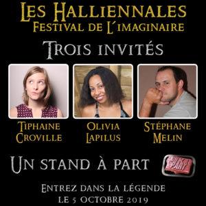 Halliennales 2019 Un K à part Tiphaine Croville Olivia Lapilus Stéphane Melin auteurs invités